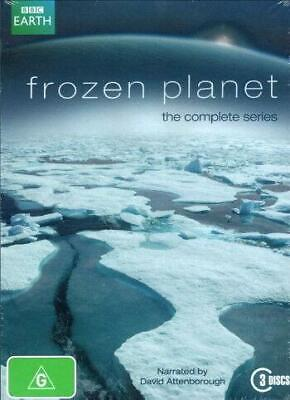 Frozen Planet The Complete Series DVD Narrated by David Attenborough 3 Discs New