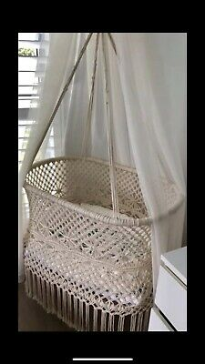 Organic Cotton Macrame Bassinet