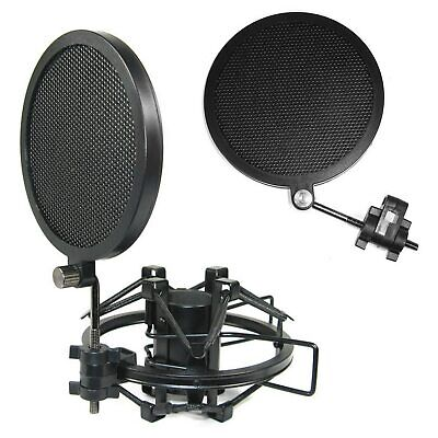 Besegad Double-layer Iron Mesh Microphone Mic Wind Screen Anti Pop Filter for
