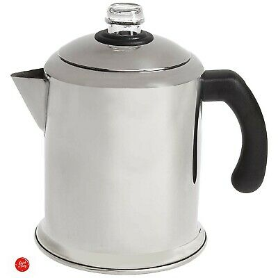 Coffee Percolator Pot Maker Stovetop 8 Cup Farberware Stainless Steel