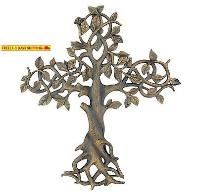"Old River Outdoors Large 16"" Tree Of Life Wall Cross - Decorative Spiritual Art"