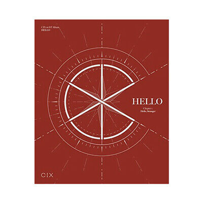 CIX HELLO CHAPTER 1. HELLO, STRANGER 1st EP Album HELLO CD+POSTER+2 P.Book+4Card