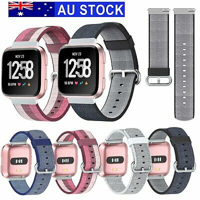 Woven Nylon Fabric Sport Wristband Watch Band Strap for Fitbit Versa Watch