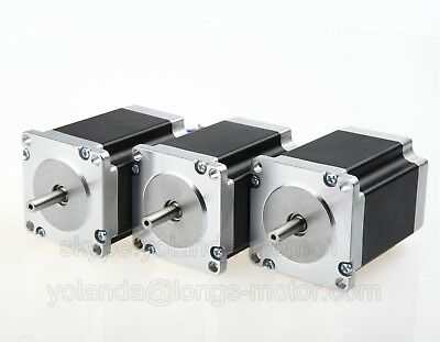 Free SHIP US/EU 3pcs Nema 23 Stepper Motor 270oz.in(1.9Nm) Bipolar DIY Hobby CNC