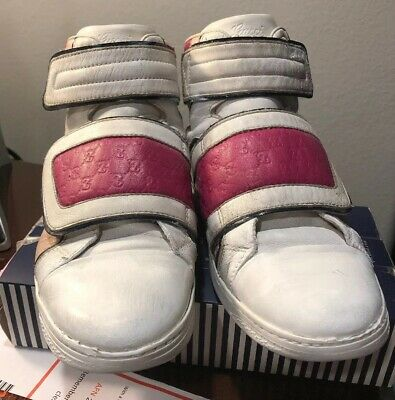 bc417a926 Authentic Gucci Kids Leather Coda Pop High-top Sneaker 301354 size 33/US 2