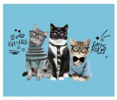 Cats Rule Quilt Panel  * New * Free Post *  🐱 * Great One For Cat Lovers *