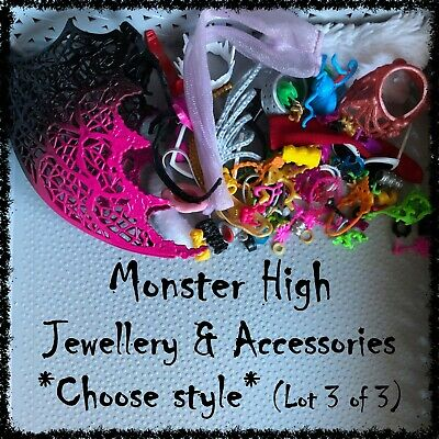 MONSTER HIGH Doll Jewellery & Accessories (Lot 3/4) ~SELECT STYLE~ 1 Item incl.