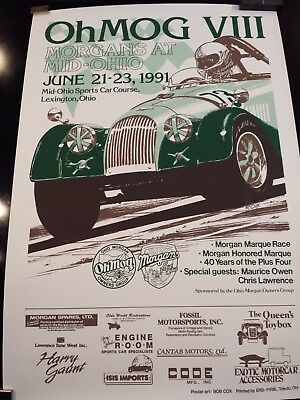 Morgans At Mid-Ohio 1991 Poster.