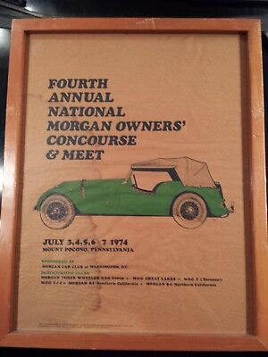 Morgan Meet Car Club Of Washington D.c. 1974 -