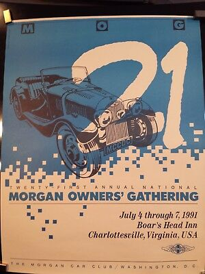MORGAN CAR CLUB OF WASHINGTON D.C. XXI annual -1991. POSTER
