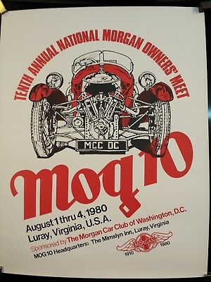 Morgan Car Club Of Washington D.c. 1980. Poster