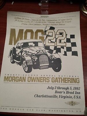Morgan Car Club Of Washington D.c. 1992. Poster.