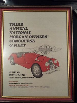 Morgan Car Club Of Washington D.c. 1973.