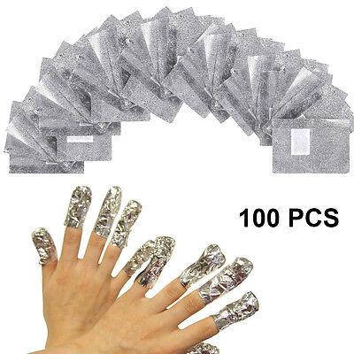 Nail Foil Gel Wraps Polish Remover Art Soak Off Acrylic Removal - No Acetone Uk
