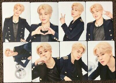 Bts Jimin Mini Photo Card Lot Of 8 Complete Speak Yourself Md Official
