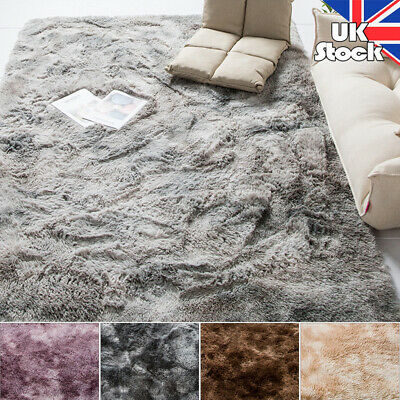 Soft Fluffy Rugs Large 3cm Shaggy Area Rug Living Rooms Bedroom Carpet Floor Mat