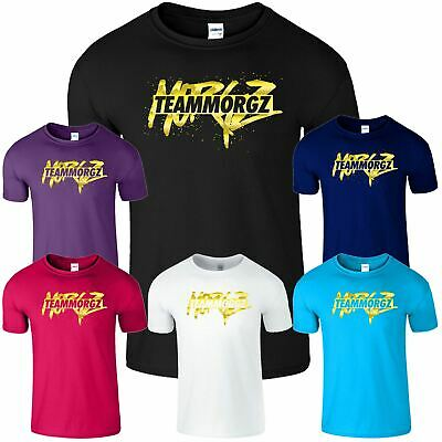 Team Morgz Mens Kids T Shirt Youtube Youtuber Vlogger Boys Girls Game Tshirt