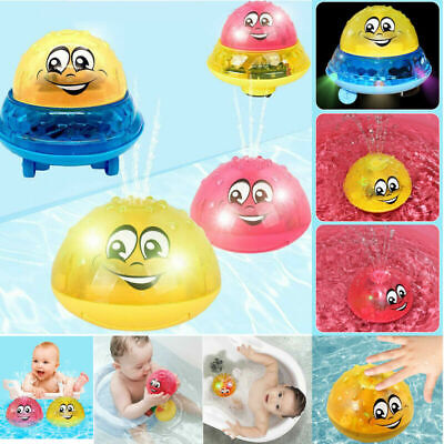 UK SELL Infant Electric Induction Water Spray Toy Children Baby Bath Shower Toy