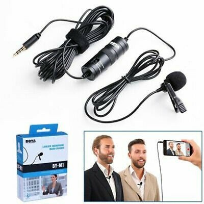 1x BOYA BY-M1 Lavalier Condenser Microphone for iPhone Samsung DSLR Camcorder PC