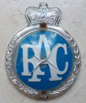 Vintage RAC United Kingdom car badge emblem England old automobile vtg UK