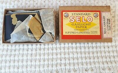 Vintage Ilford Selo Gaslight Paper / Box with Contents – Camera, Collectable, F