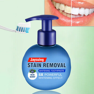 Natural Intensive Stain Remover Whitening Toothpaste Fight Bleeding Gums HOT UK