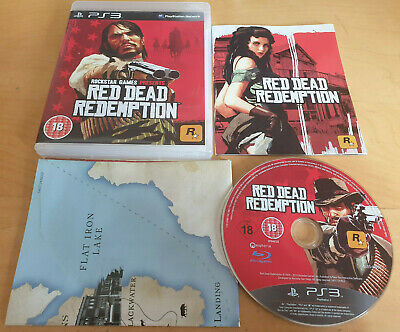 RED DEAD REDEMPTION for SONY PS3 PLAYSTATION 3 COMPLETE WITH MAP