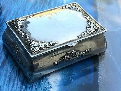 Antique Silver Plated Lidded  trinket box