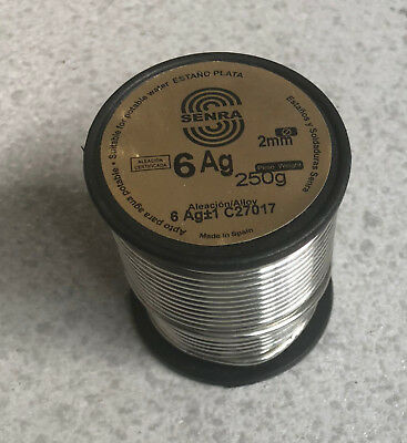 250 Gr 1 Coil Welding Tin Silver Sn94 Ag6 2,0mm DIN1707L Use Water Drinking