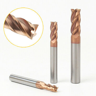 1-16mm Solid Carbide End Mill Cutter 4 Flute Slot Drill Bit TiAlN Coated HRC55