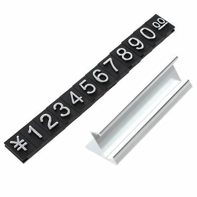1X(Jewelry store metal ground Arabic numbers combined price tags 10 groups U7O2)