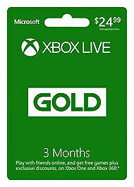 Xbox Live 3 Month Gold Membership Delivered FAST!