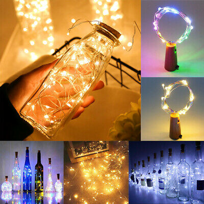 1/2/4/6/10PCS 2m 20LED Wine Bottle Cork String Lights Christmas Wedding Party