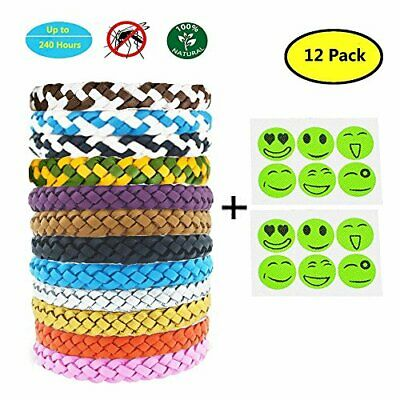 Yithings Pulsera Repelente de Mosquitos 12 Pack Exterior Insectos Impermeables