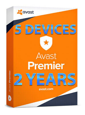 Avast Premier 2019 - 5 DEVICES(WINDOWS) - 2 YEARS - ORIGINAL LICENSE