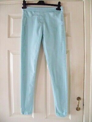 Girls Jean Type Trousers Turqoise Age 13 Years By The Rosie Good Condition.