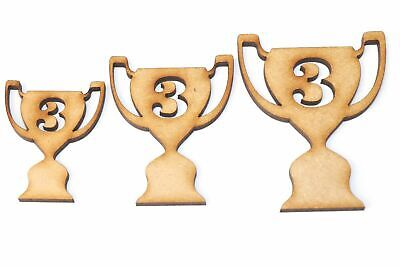 Wooden MDF Sport Trophy Shapes Bunting Craft Embellishments Sports Decoration