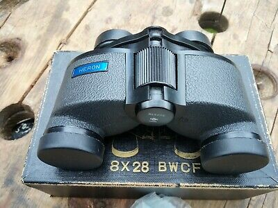 Heron bwcf 8x28 Binoculars With Case. Amazing view boxed