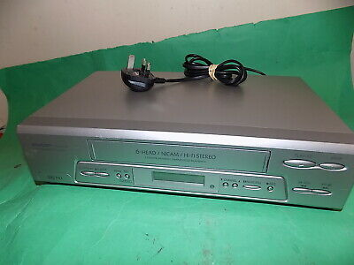 SHARP Video Cassette Recorder VHS VCR Silver FULLY TESTED VC-MH75 Fully tested