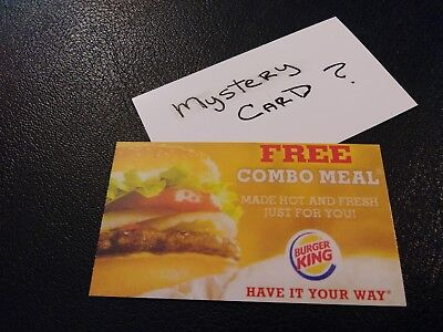 1 Burger King Combo Meal Voucher+1 Mystery Combo Meal Voucher (No Expiration)