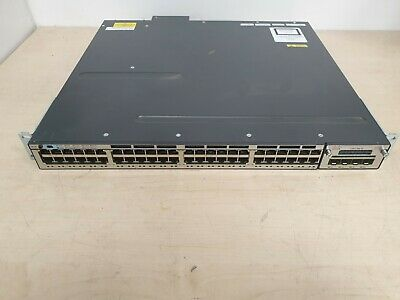 CISCO CATALYST WS-C3750X-48PF-S PoE+ Switch - C3KX-NM-1G IOS 15.0 - UNIVERSALK9