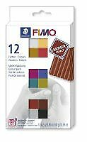 FIMO leather-effect colour pack 12 half blocks