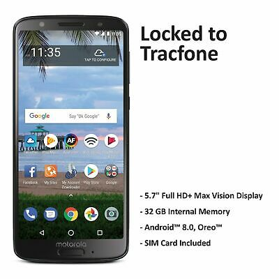 Tracfone Motorola Moto G6 4G LTE Prepaid Phone with $40 Airtime Plan Included