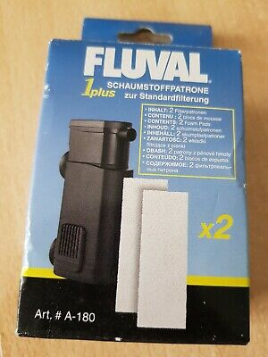 Fluval 1 Plus Foam Pad Pack of 2 Replacement Filter Sponges A-180
