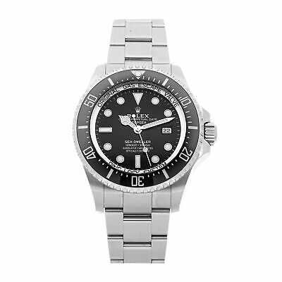 Rolex Deepsea Sea-Dweller Auto 44mm Steel Mens Oyster Bracelet Watch Date 126660