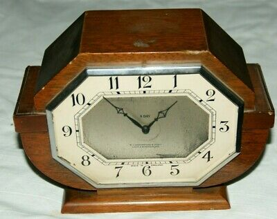 1930/40's 8 Day Mantel Clock With  ABEC  Movement (W. Greenwood & Sons)