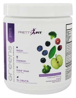 PrettyFit - Greens 100% All Natural Delicious Superfood Complex Natural Berry -
