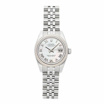 Rolex Datejust Auto 26mm Steel White Gold Ladies Jubilee Bracelet Watch 179174