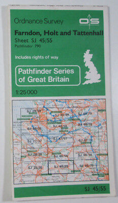 Old 1978 OS Ordnance Survey 1:25000 Pathfinder Map 790 Farndon Holt & Tattenhall