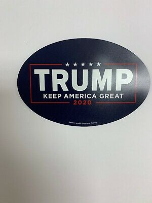 Trump 2020 Keep America Great 4x6 Oval Magnet Cars, Trucks, Refrigerators
